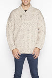 Men's Shawl Collar Cable Knit Cardigan