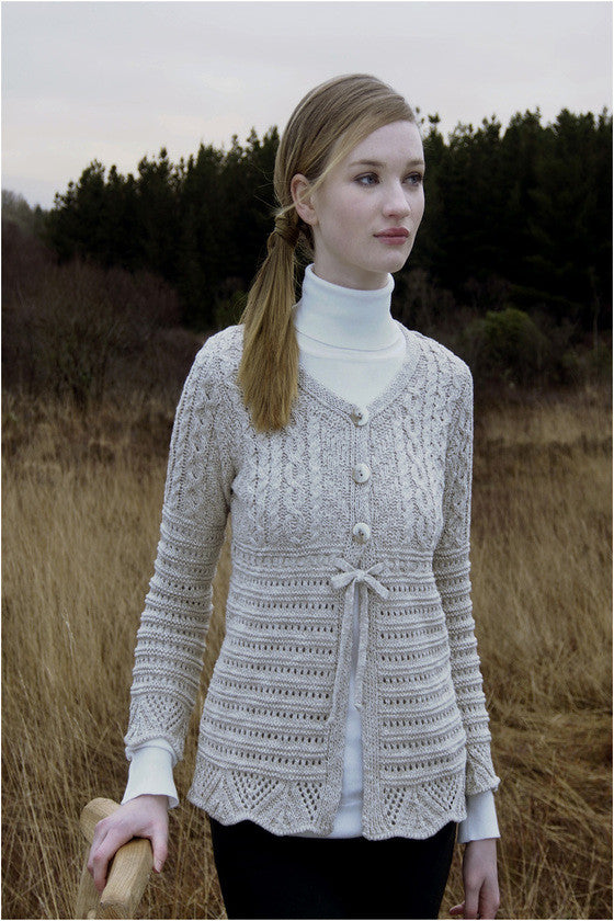 Women's Aran Wool Cardigan