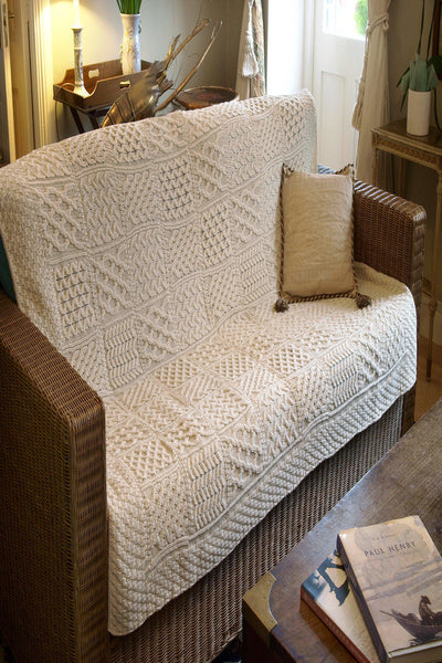 Irish Wool Throw - Natural