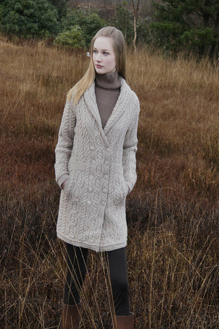 Double Breasted Aran Coat