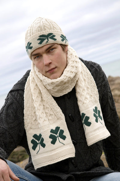 Men's Celtic Wool Hat - Natural