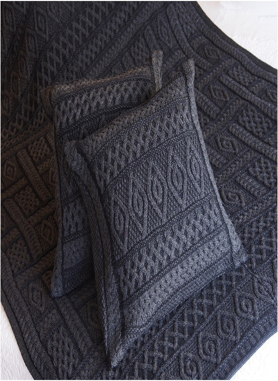 Aran Plated Cushion Cover - Charcoal