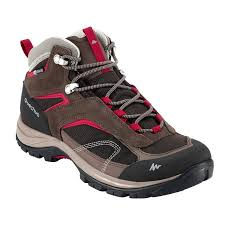 Quechua Forclaz Waterproof High Ankle Mountain Snow Trekking shoe for Rent in Mumbai