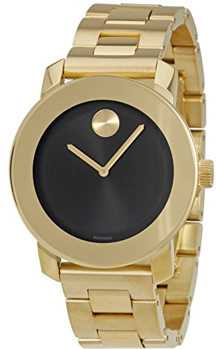 Movado Bold Black Dial Gold-Tone Unisex Watch 3600397