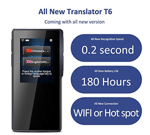 All New Translator Device,The New Version Update 82 Languages 2.4 Inch New Interface Touch Screen Portable for Travelling Learning Business Shopping Meeting
