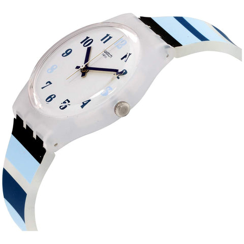 Swatch Unisex Adult Analogue Quartz Watch with Silicone Strap GE275