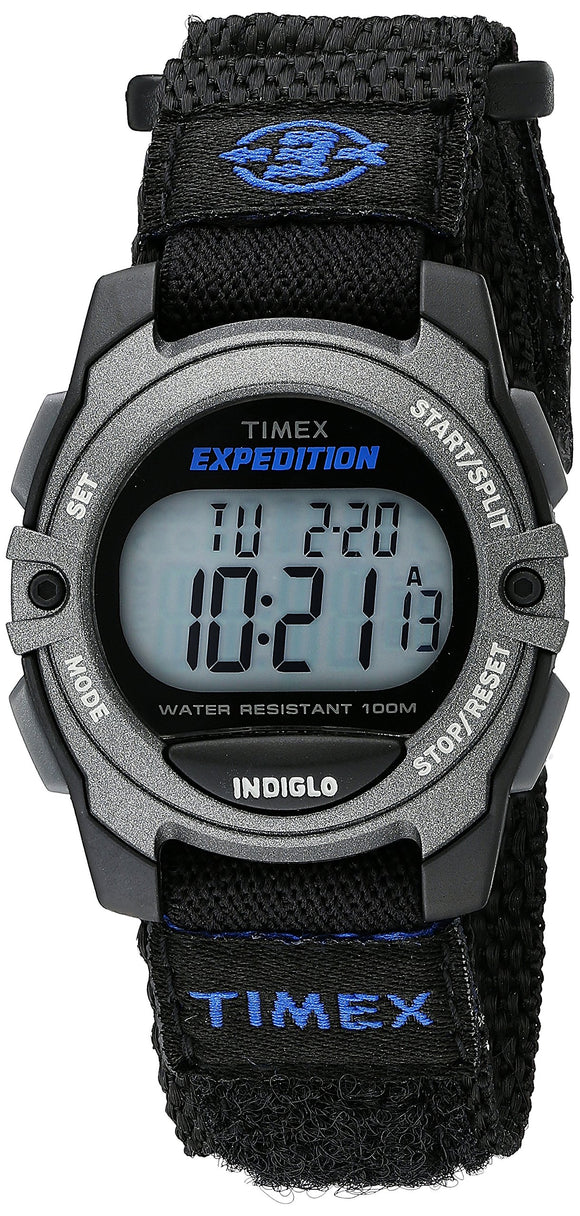 Timex Unisex TW4B02400 Expedition Mid-Size Digital CAT Black Fast Wrap Strap Watch