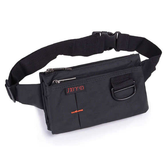 liangdongshop Travel Waist Bag Sporty Fanny Pack Unisex Water Resistant Nylon Sport Bumbag Crossbody Chest Pouch(Black)