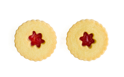 Raspberry Jam Shortbread Cookies