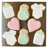 Green Baby Cookie Set