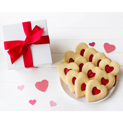 Jam Shortbread Hearts Gift Box