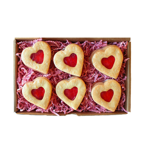 Jam Shortbread Heart Box