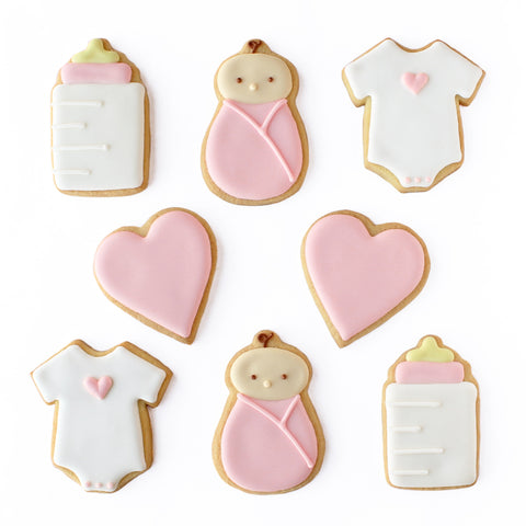 Pink Baby Cookie Set