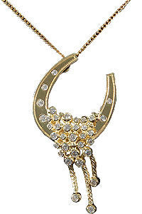 Golden Horseshoe of Luck Pendant
