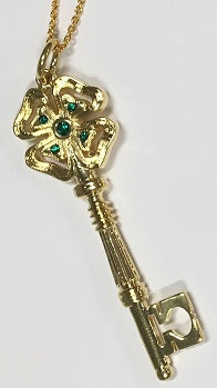 Golden Clover Key of Luck