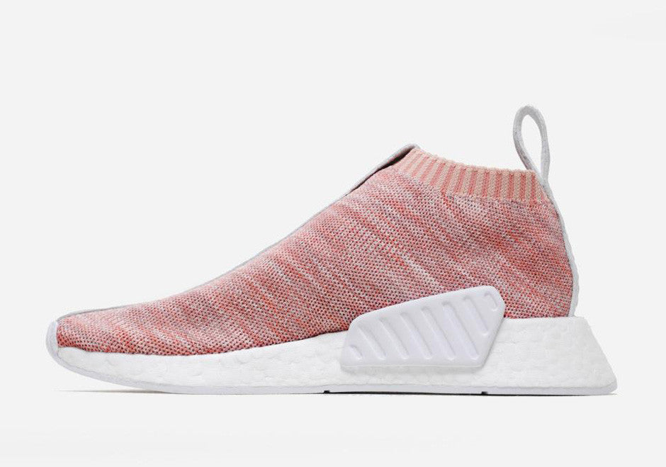 Saints SG Kith NAKED adidas NMD CS2 Pink Lateral