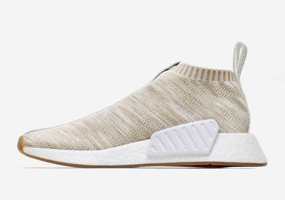 Saints SG Kith NAKED adidas NMD CS2 Sandstone Lateral