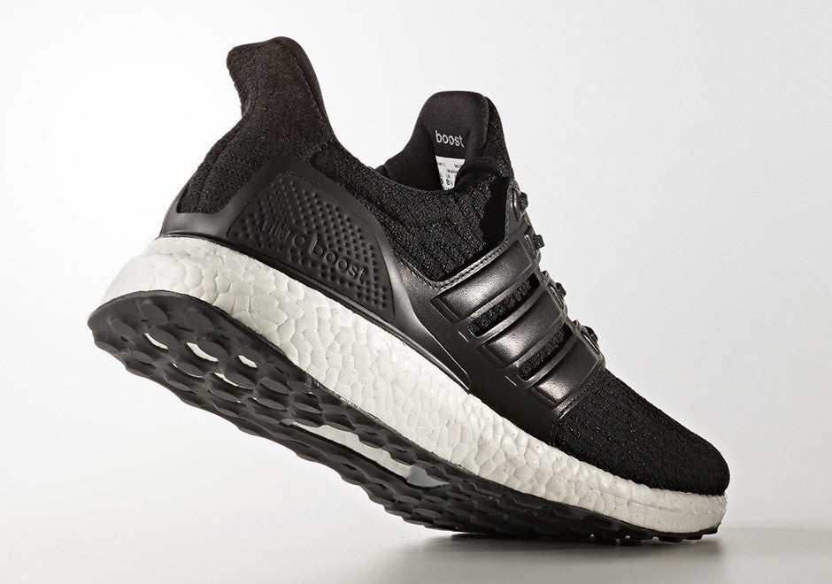 Saints SG adidas Ultra Boost Core Black White 3.0 BA8924 Leather Side Lateral