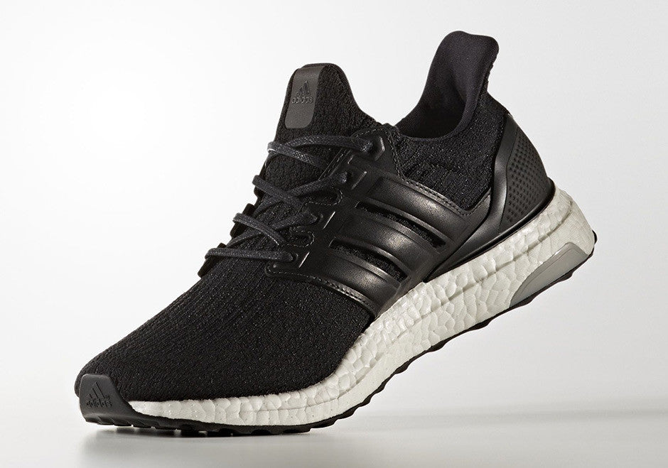Saints SG adidas Ultra Boost Core Black White 3.0 BA8924 Leather Side Medial