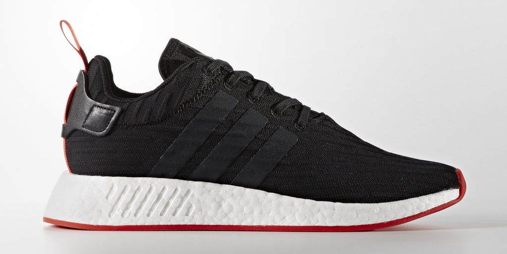 Saints SG adidas NMD_R2 Women Men Primeknit Runner Boost Black White Red