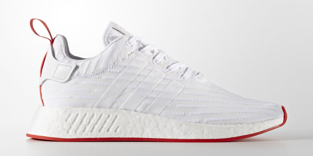 Saints SG adidas NMD_R2 Women Men Primeknit Runner Boost White White Red