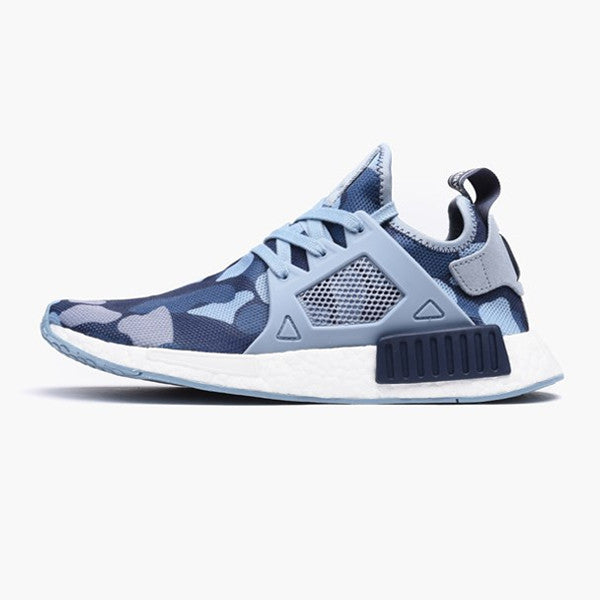 Adidas NMD R1 BB 2886 Gray / White Glitch Men 's Running Shoes Size
