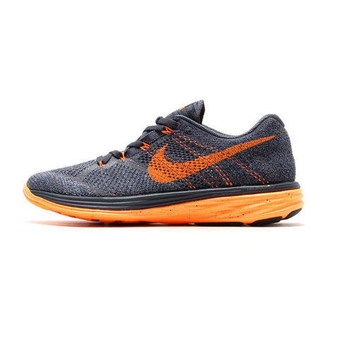 Men's Nike Flyknit Lunar 3 Grey/Orange