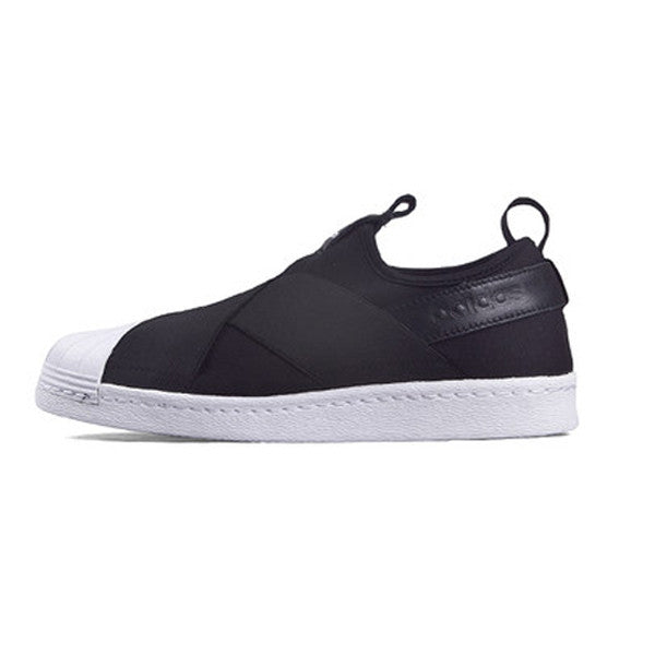 Women s Adidas Superstar Slip-on Shoes Black ... 765b91684d