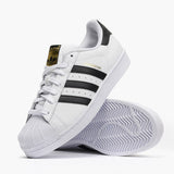 Adidas Superstar Casual Shoes Black White Gold