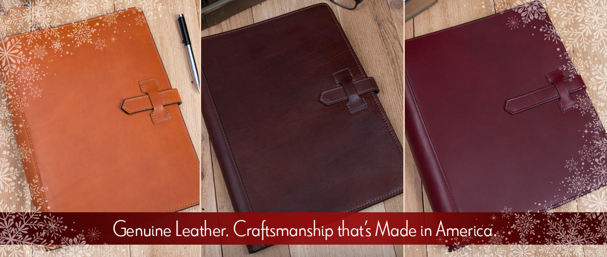 Collection of custom padfolios