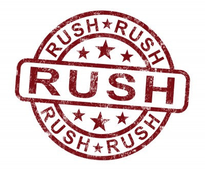 Rush Shipping Available