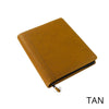 Zippered Leather Gusseted Portfolio