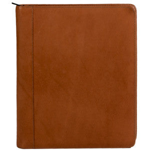 Zippered Gusseted Portfolio – English Bridle Leather