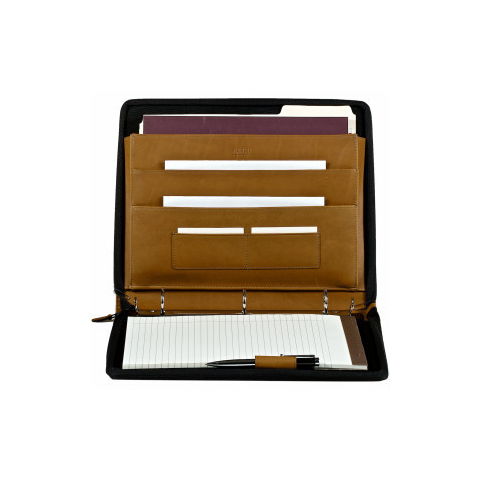 Zippered Drop Handle Portfolio with 3 Ring Binder - Style #143