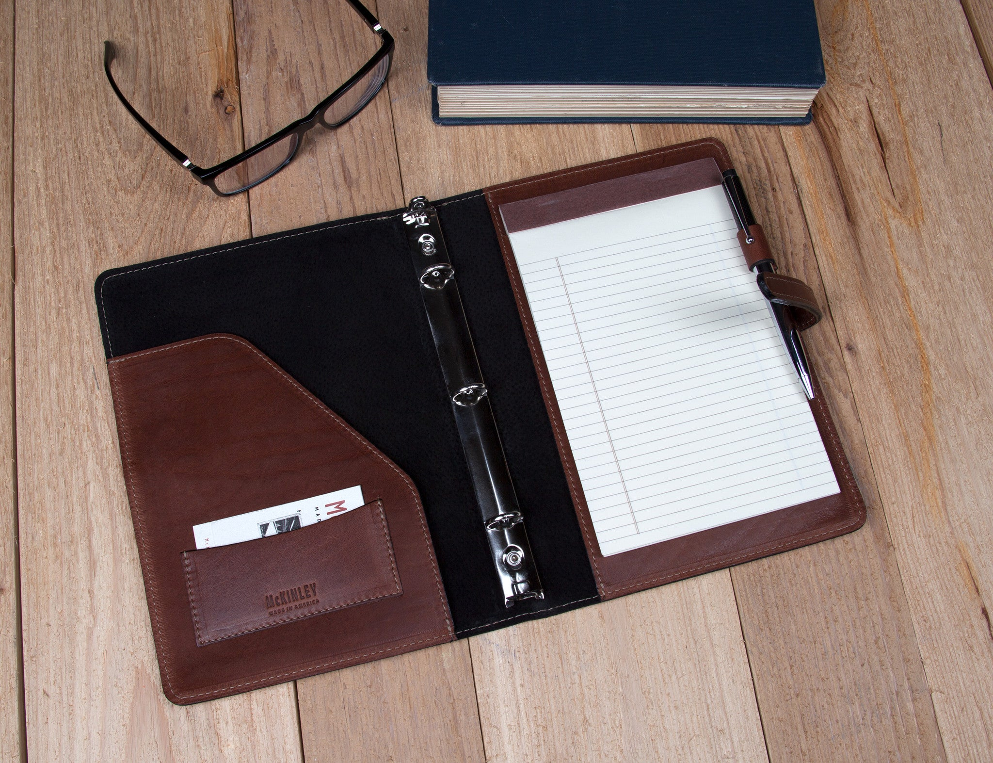 Small Leather Binders - McKinley Leather