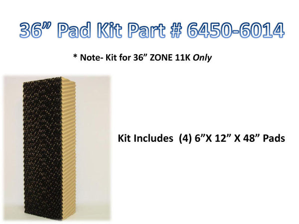 "36"" Pad Kit-Zone & Single Spd. 48"" x 12"" x 6"""