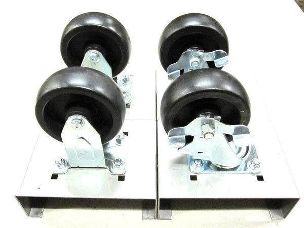 "24"" Wheel Kit - 4"" Solid Rubber Castors"
