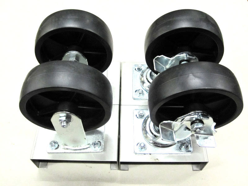 "Wheel Kit - 6"" Solid Rubber Castors"