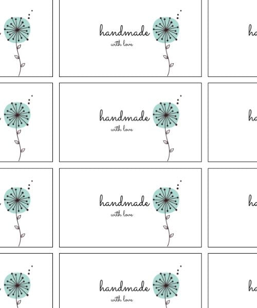 Set of 6 Handmade tags (wildflower collection)