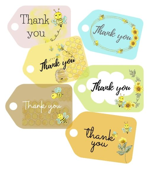 Thank You Printables Bundle (tags, cards, wall art, stationery)