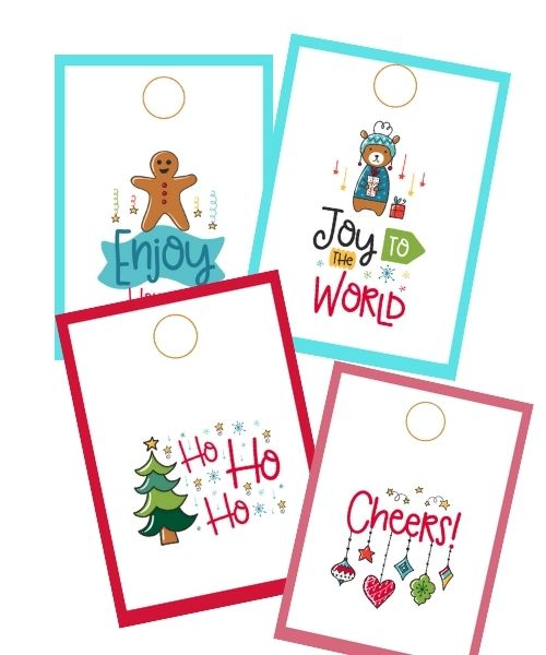 Set of 9 Christmas tags