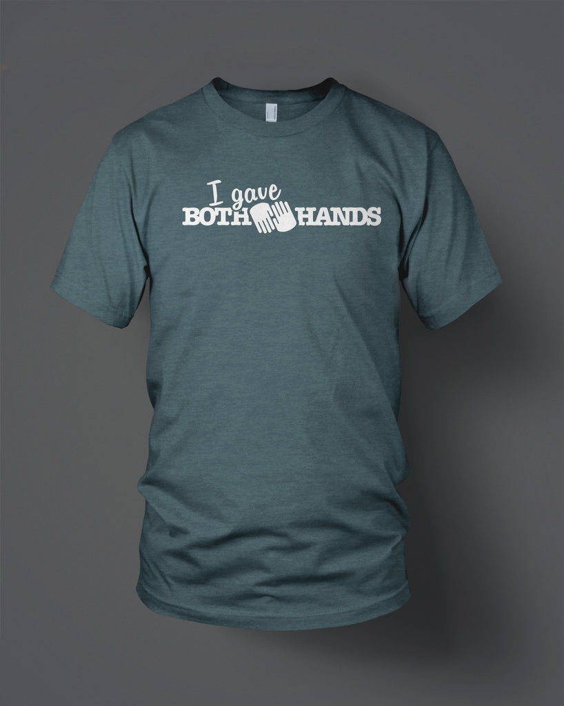 Blue-Grey Both Hands Tee