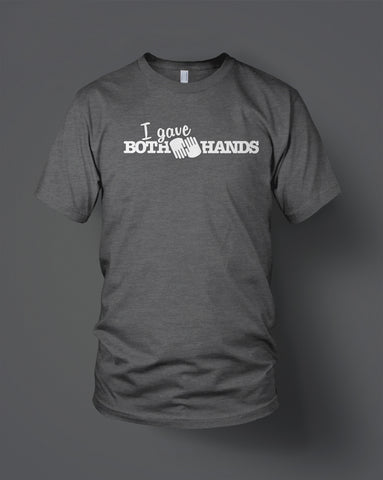 Charcoal Both Hands Tee