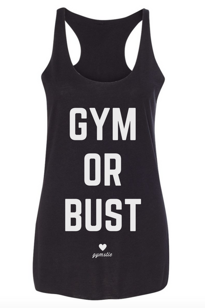 Gym Or Bust Racerback Tank