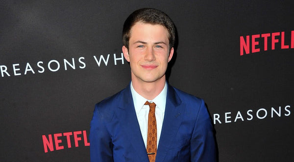 13 Reasons Why's Dylan Minnette on Read Carpet in Strong Suit
