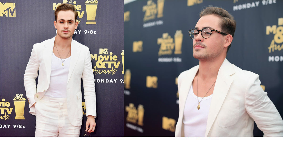 Stranger Things Dacre Montgomery at the 2018 MTV Movie & TV Awards in Strong Suit