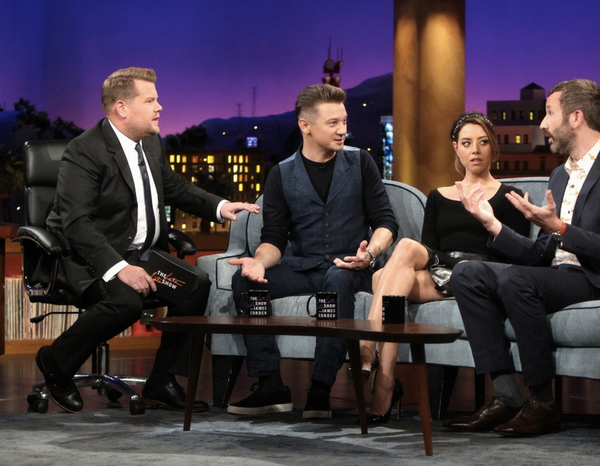 Jeremy Renner in Strong Suit, The Late Late Show with James Corden and talk of Grumpy Cat.