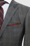 Espada Charcoal with Rose Plaid Suit