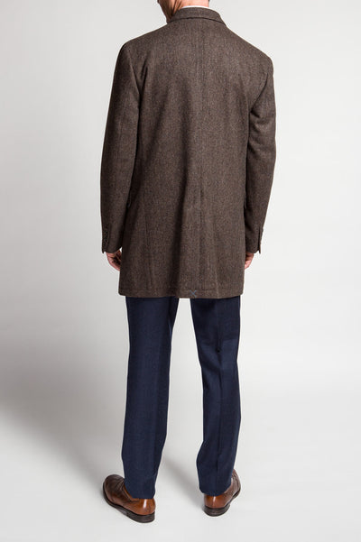 GT Brown Doubleface Flannel Topcoat