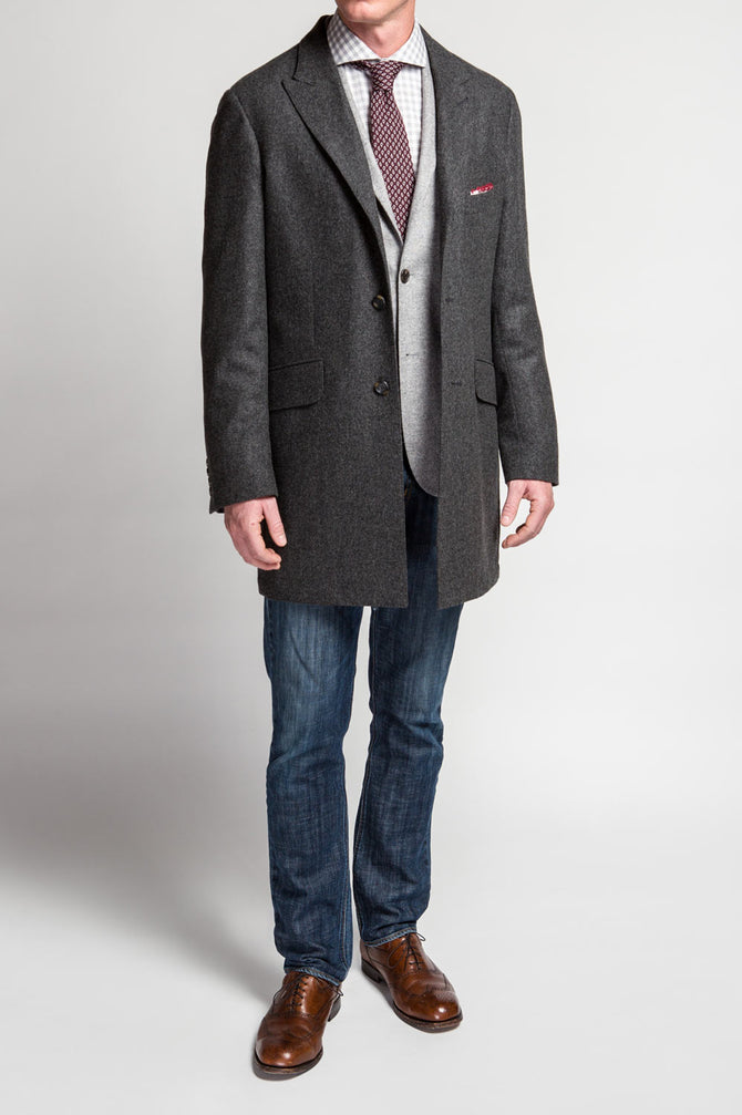 GT Charcoal Flannel Topcoat